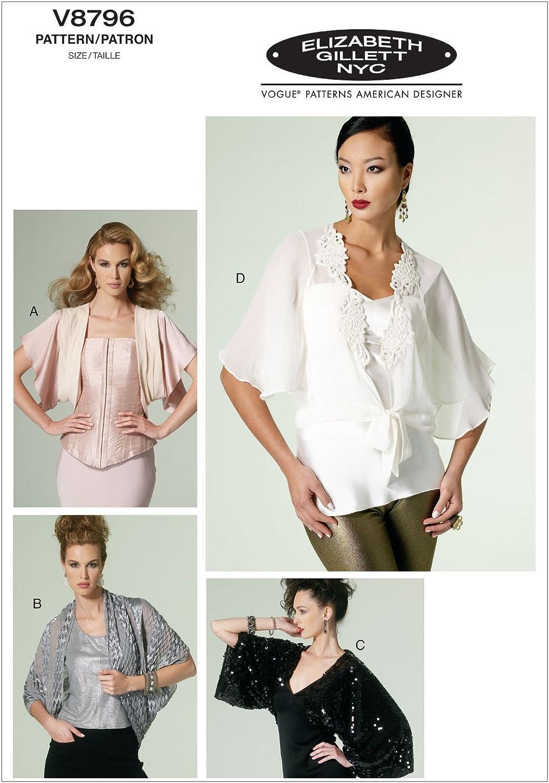 Vogue Patterns V8796 - Patrones de Costura para Chaquetas de Mujer (Tallas L, XL y XXL)