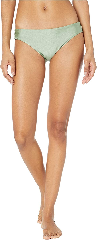 Luli Fama Women's Standard Mambo Lace Up Grommet Full Coverage Bikini Bottom Swimwear