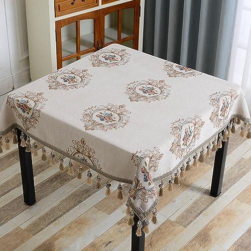 Xi Man Shop Europ che Tischdecke Stoff Platz Tischdecke Haushalt quadratischen Tisch Tischdecke Wohnzimmer Couchtisch Mahjong Tischdecke (Farbe   B, Größe   120  120cm)