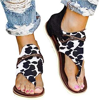 HWGOOD Chanclas planas para mujer, con cremallera, sandalias de playa antideslizantes, cómodas, tiempo libre, elegantes, s...