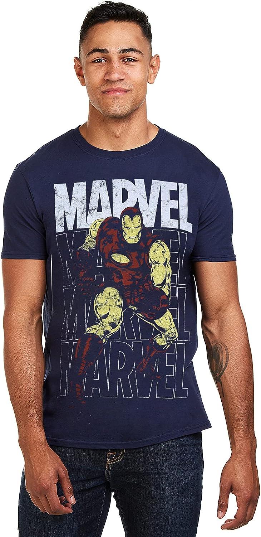 Marvel Iron Man Repeat Camiseta para Hombre: Amazon.es: Ropa