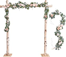 Ling's moment Wedding Arch Decor Flowers 2 Rows 6.5ft Blush Flower Garlands for Wedding Backdrop Ceremony Decorations
