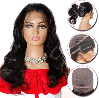 YIDA 360 Lace Frontal Wig Pre Plucked With Baby Hair Can Do High Ponytail Brazilian Body Wave Lace Front Wig Glueless Full Lace Wigs Human Hair For Black Women (18 Inch)