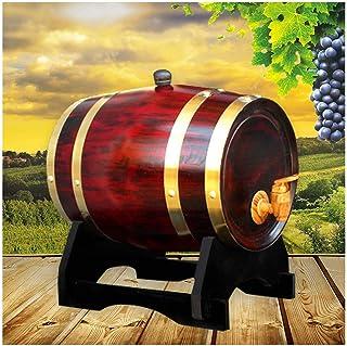 Tonneau de Vin en chêne Fût de chêne Fût de chêne 1.5L / 3L / 5L / 10L, fûts de chêne vintage avec patin intégré en alumin...
