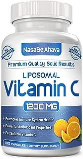 NASA Beahava Liposomal Vitamin C - 1200mg Supplement - 180 Capsules - High Absorption Vitamin C Ascorbic Acid Pills - Liposome Encapsulated - Supports Immune System - Non-GMO - 90 Servings