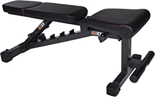 XMark Power Series Adjustable Flat Incline Decline Bench, 1500 lb. Wgt Capacity, 7 Back Pad Positions From Decline at -20 degrees To Incline of 85 degrees, and 3 Ergonomical Seat Pad Positions XM-9010