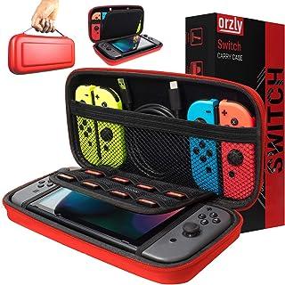 Orzly Funda Transportar la Nintendo Switch – Rojo Funda Dura de Viaje para Llevar la Nintendo Switch y Sus Accesorios