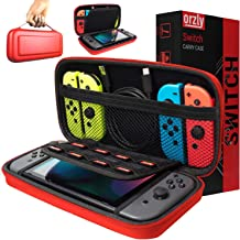 Orzly Carry Case Compatible with Nintendo Switch - RED Protective Hard Portable Travel Carry Case Shell Pouch for Nintendo...