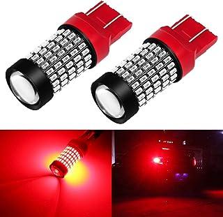 Phinlion Super Bright 7440 7443 Red LED Brake Tail Light Bulbs 2800 Lumen 3014 103-SMD 7441 7444 7443 LED Bulb for Tail St...