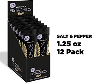 Wonderful Pistachios, Salt and Pepper Flavored, 1.25 Ounce (Pack of 12)
