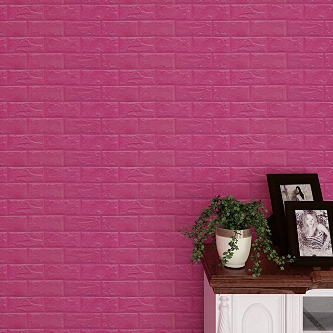 Wall Brick 3D Wall Panel Begonia Pattern PE Foam Self-Adhesive Stick Tile Solid Pattern,Not Just 3D Photo 1, Grey