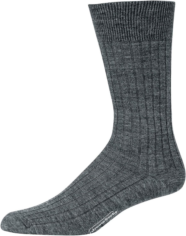 Boardroom Socks Merino Wool Mid-Calf Dress Socks for Men, Ribbed Dress Socks