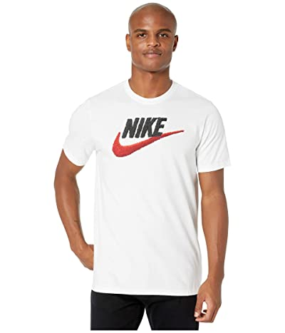 Nike NSW Brand Mark Tee (White/Black/University Red) Men