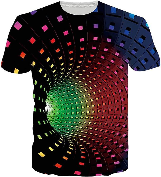 1804 opinioni per ALISISTER Unisex Maglietta da Stampare 3D T Shirt Uomo Divertenti Estate Casual