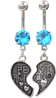 Best bff belly button rings Reviews