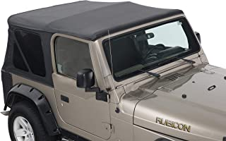 King 4WD Replacement Soft Top Without Upper Doors - Black Diamond - TJ 1997-2006 Jeep Wrangler
