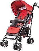 Lascal M1 Buggy, ergonomisch einstellbarer Kinderbuggy, bequemer Kinderwagen für Kinder bis 6 Jahre 22 kg, Kinderwagen Buggy mit Verdeck, kompatibel mit BuggyBoard, rot