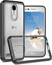 LG Rebel 4 LTE Phone Case Clear, LG Phoenix 4 Clear Case, LG Aristo 3 Phone Case Clear, LG Tribute Empire Clear Case, CoverON ClearGuard Slim Fit Hard Phone Case with TPU Grips - Clear with Black Trim