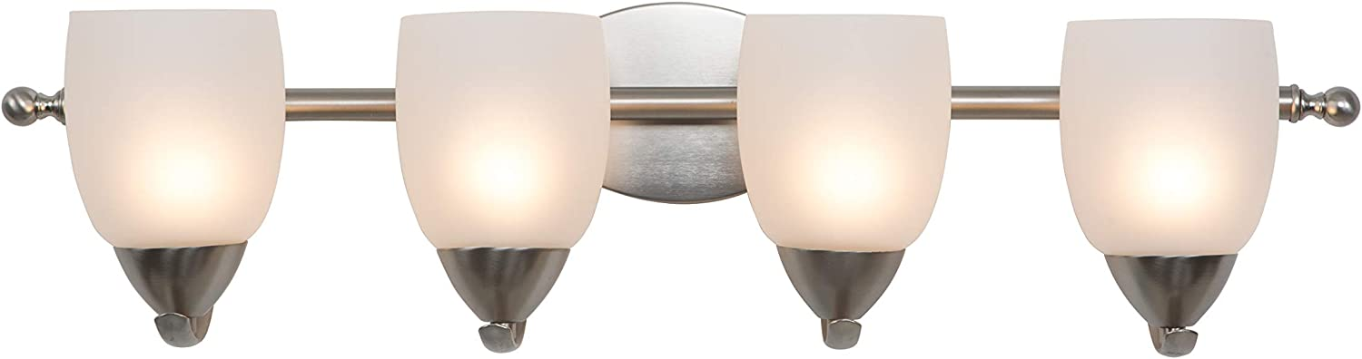 Yosemite Home Decor 1261-4V-BN 4 Light Vanity Brushed Selling and selling Nic ! Super beauty product restock quality top!