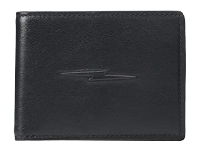 Shinola Detroit Slim Bifold w/ Bolt Smooth Grain Leather (Black) Wallet Handbags