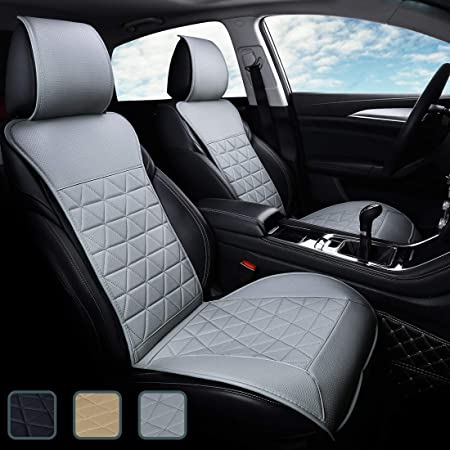 Upgrade Pu Leather Seat Cover for Cars with Full Wrapping Edge /& Non-Slip Bottom Front Seat Protector for Car Compatible with Most Vehicles . 1Piece, Black kingphenix Premium Car Seat Cover