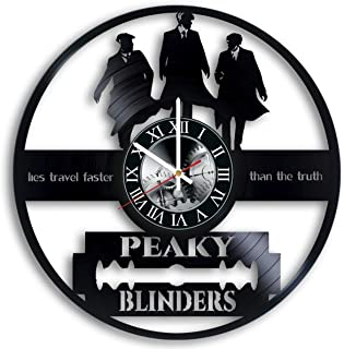 Art Finder Peaky Blinders TV series Vinyl Record Wall Clock - Get Unique Bedroom or livingroom Wall Decor - Gift Ideas for Boys and Girls Perfect Element of The Interior Unique Modern Art