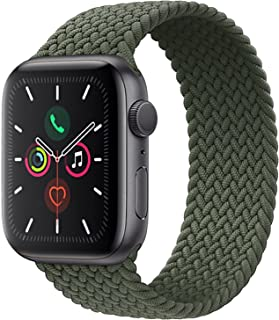 Braided Solo Loop Watch Band Compatible for Apple Watch Series 1/2/3/4/5/6/7/SE with 44mm 42mm Elastic Nylon Straps (Mint ...