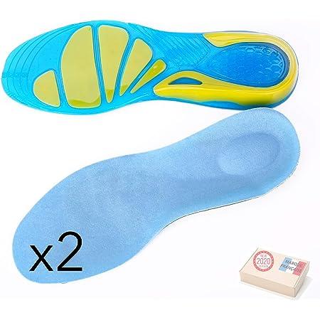 Semelles pour Chaussures de Sport de 1/paire de chaussure Semelles antid/érapantes absorbentes pour TU marcheras randonn/ée taille s
