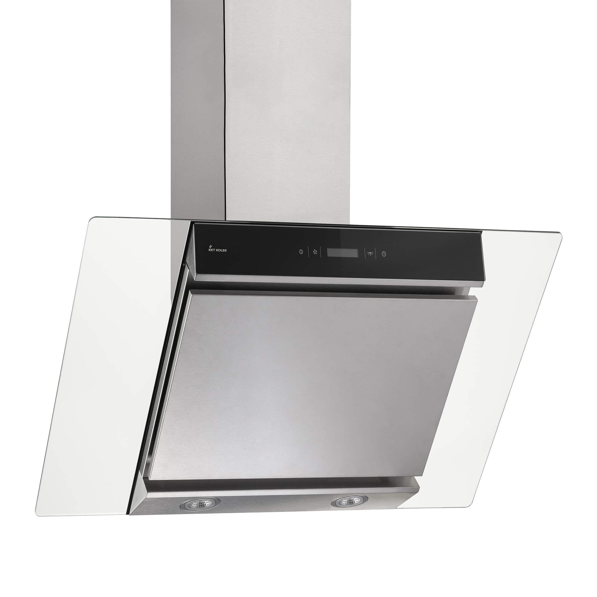 Campana extractora de pared (80 cm, acero inoxidable, cristal, extra silenciosa, 605m³/h, 4 escalones, iluminación LED, teclas de sensor TouchSelect) FREE8004TC - KKT KOLBE: Amazon.es: Hogar