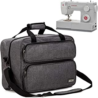 HOMEST Sewing Machine Carrying Case, Universal Tote Bag with Shoulder Strap Compatible with Most Standard Singer, Brother, Janome, Grey (Patent Pending)