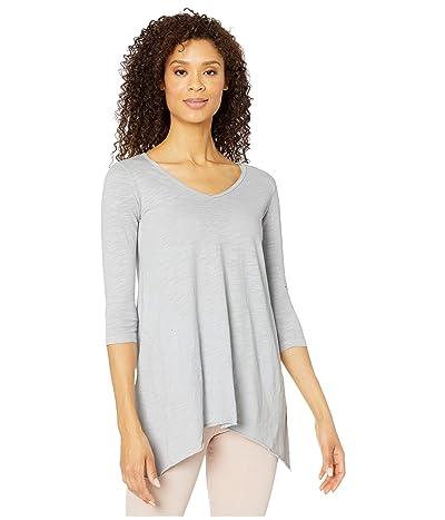 Mod-o-doc Slub Jersey 3/4 Sleeve V-Neck Tunic with Pockets (Seagull) Women