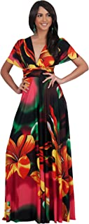 KOH KOH Womens Long One Shoulder Convertible Wrap Infinity Floral Maxi Dress