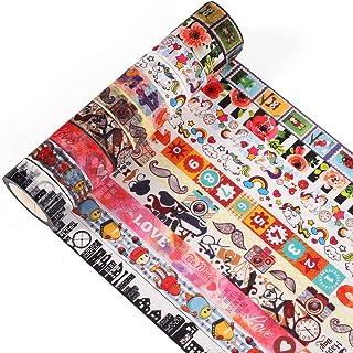 Accmor 10 Rolls Washi Tapes Set Decorative Masking Tape for DIY Scrapbook, Planner, Bullet Journal, Arts & Crafts, 15mm Wide.