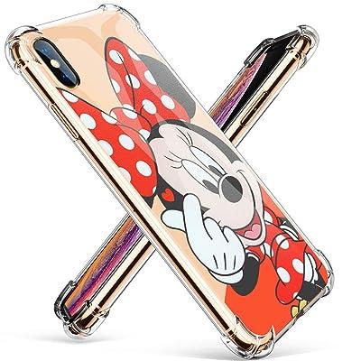 Logee TPU Minnie Mouse Cute Cartoon Clear Case ...