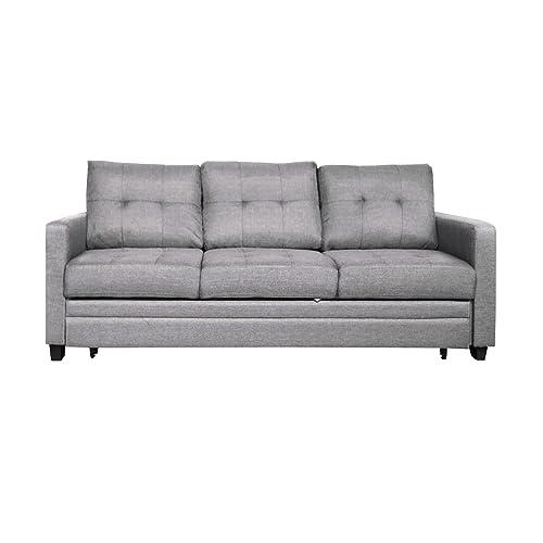 Furniture 247 Canapé-lit 3 personnes - Gris