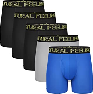 Sponsored Ad - Natural Feelings Mens Underwear Coolzone Boxer Briefs for Men Pack Stretch Performance Quick Dry Sports Und...