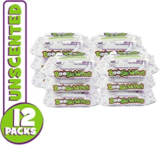 Boogie Wipes, Unscented Wet Wipes for Baby and Kids, Nose, Face, Hand and Body, Soft and Sensitive Tissue Made with Natural Saline, Aloe, Chamomile and Vitamin E, 30 Count (Pack of 12)