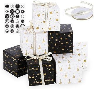 ilauke Kalendarz adwentowy, 24 pudełka na prezenty – pudełka na kalendarz adwentowy – papierowy smok, zestaw pudełek z nak...