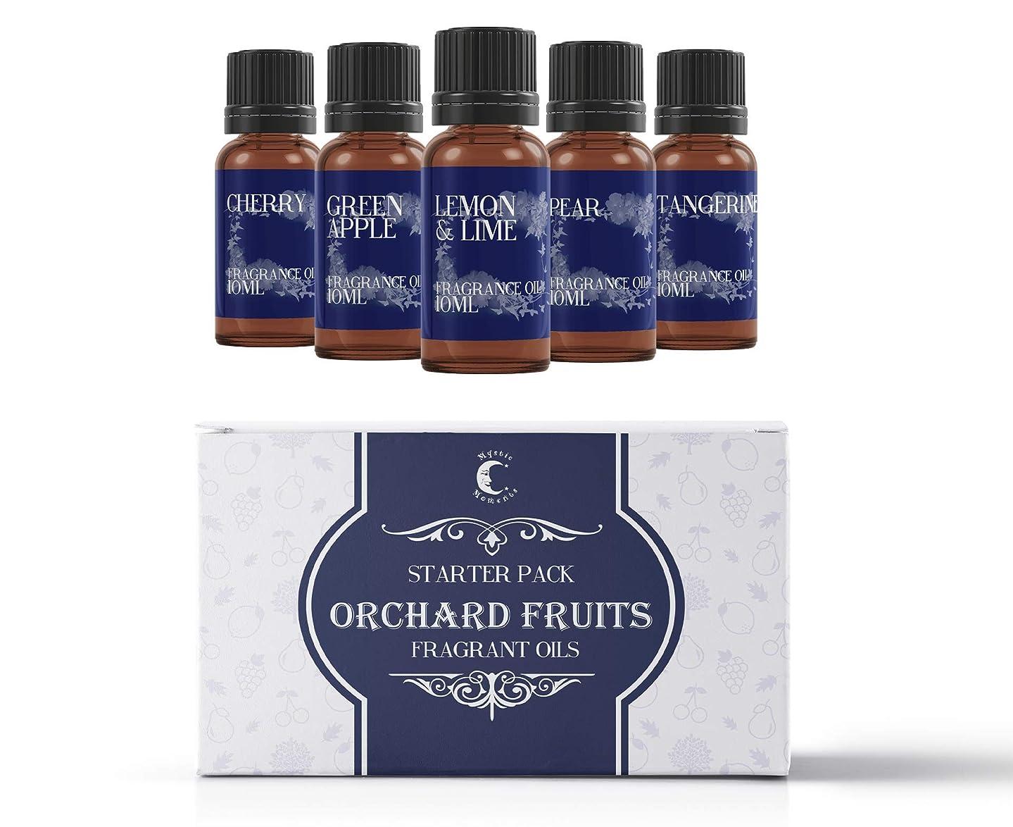キモいティーンエイジャー侵入Mystic Moments | Fragrant Oil Starter Pack - Orchard Fruits - 5 x 10ml