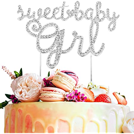 Cake Topper Birthday Glitter Calligraphy Bling Sparkle Happy Decoration K0H0