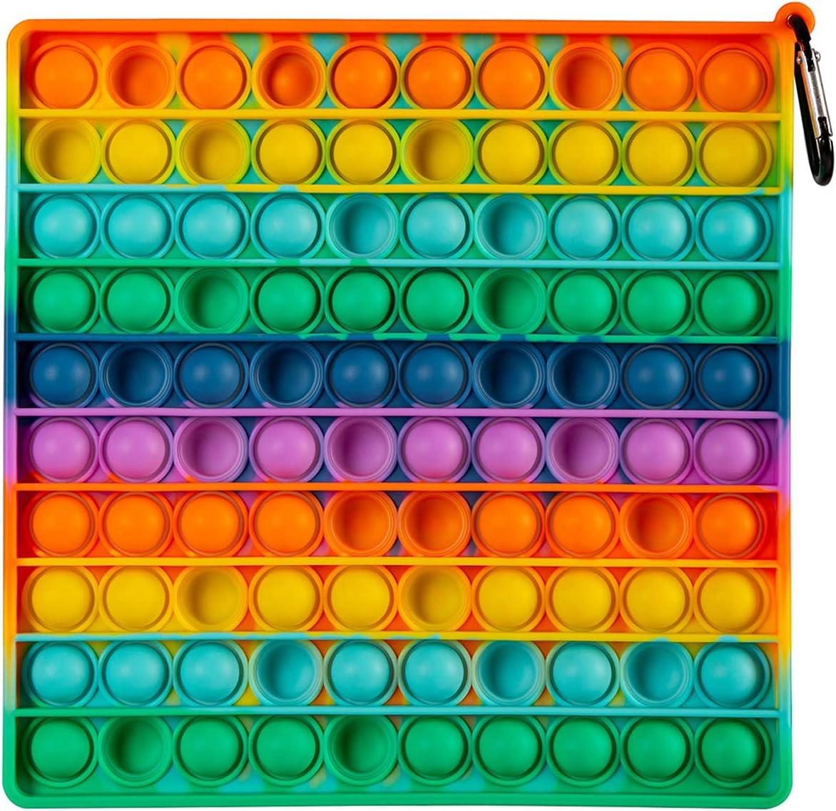 DINGFENG Push Pop Bubbles Fidget Toy, 100 Bubbles Big Size Fidge