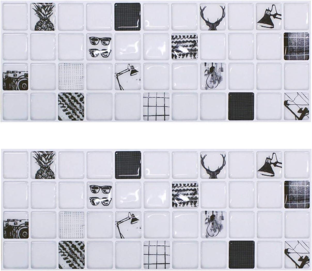 Beaustile Mosaic 3D Wall Sticker Home Decor Vintage Fire Retardant Backsplash Wallpaper Bathroom Kitchen DIY Design