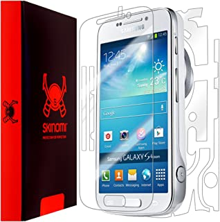 Skinomi Full Body Skin Protector Compatible with Samsung Galaxy S4 Zoom (CM-C1010)(Screen Protector + Back Cover) TechSkin Full Coverage Clear HD Film