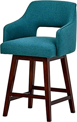 Admirable Amazon Com Rivet Malida Mid Century Modern Open Back Swivel Customarchery Wood Chair Design Ideas Customarcherynet