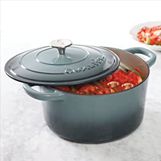 Crock Pot Artisan 7QT Round Dutch Oven, Gray