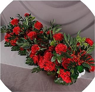50/100cm Wedding Flower Wall Arrangement Supplies Silk Peony Artificial Flower Row Decor diyiron Arch Backdrop,C6,50cm