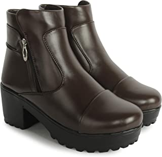 TWIN TOES Women's Casual Heel Boot