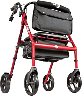 ヒューゴエリート 高齢者用歩行補助器 イス/ブレーキ付き 大型 体重135kgまで シルバーカー [並行輸入品]