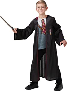 Rubie's Official Harry Potter Gryffindor Deluxe Robe Costume, Includes Wand and Glasses, Childs Age 9-10 Years (300143 9-10)