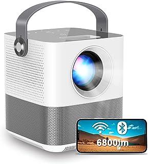 FANGOR プロジェクター 小型 6800lm ワイヤレス投影 1920*1080フルHD対応 Bluetooth デジタル台形補正 スマホと直接接続 スマホ/パソコン/PS4/タブレット対応 三年保証